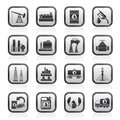 Petrol and oil industry icons Royalty Free Stock Photo
