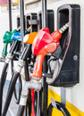 Petrol pump filling Royalty Free Stock Images