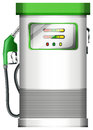 A petrol pump illustration of on white background Stock Photos