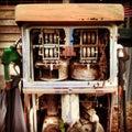 Petrol pump vintage Royalty Free Stock Images
