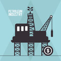 Petroleum industry design vector illustration eps graphic Royalty Free Stock Image