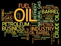 Petroleum industry oil and word cloud illustration word collage concept Royalty Free Stock Image
