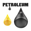 Petroleum oil drop on white background eps vector Stock Images