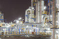 Petroleum plant in night time oil and chemical Stock Photography