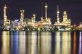 Petroleum Refinery Royalty Free Stock Photo