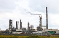 Petroleum refinery large technological equipment and production casing Royalty Free Stock Photos