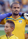 Petrolul ploiesti ceahlaul piatra neamt romanian league s geraldo alves pictured before the start of the football game between and Stock Images