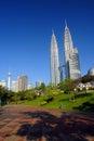 The Petronas Towers Royalty Free Stock Photo