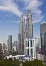 Petronas Towers at Kuala Lumpur, Malaysia Stock Photo