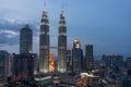 Petronas Towers in Kuala Lumpur Royalty Free Stock Photo