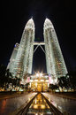 The Petronas Twin Towers, at the heart of the Kuala Lumpur city Royalty Free Stock Images