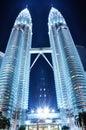 Petronas Twin Towers - KLCC Royalty Free Stock Photo
