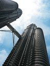 Petronas twin towers kuala lumpur famous architecture malaysia and the city landmark Royalty Free Stock Photo