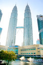 Petronas twin towers kuala lumpur malaysia may view of the in kuala lumpur malaysia are the tallest buildings in the Royalty Free Stock Photo
