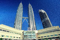 Petronas Twin Towers and Maxis Tower Royalty Free Stock Photo