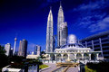 Petronas Twin Towers and Skyline of Kuala Lumpur. Royalty Free Stock Photo