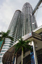 Petronas twin towers the tallest buildings in the world and the landmark of kuala lumpur malaysia Stock Images