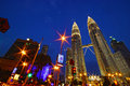 Petronas twins tower and asia Royalty Free Stock Photos