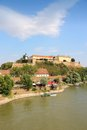 Petrovaradin serbia novi sad city in the region of vojvodina fortress and river danube Stock Image