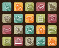 Pets care icon set icons on a veterinary science and theme house pupils Stock Image