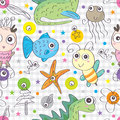 Pets funky seamless pattern eps illustration of fauna and flora this file info version illustrator document inches width height Royalty Free Stock Images