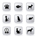 Pets icons Stock Images