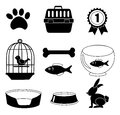 Pets icons Royalty Free Stock Photo