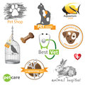 Pets icons and design elements Stock Photo