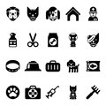 Pets icons, vet clinic icons and veterinary medicine
