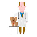 Pets medic illustration of doctor on white background Stock Photo