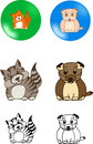 Pets vector Royalty Free Stock Images