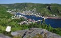 Petty harbour newfoundland a small community nestled in between the high hills of the avalon peninsula about minutes outside of st Stock Image