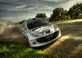 Peugeot 207 S2000 rally car Stock Photos