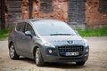 Peugeot parked up in klaipeda old town lithuania jun on june lithuania the is a compact crossover unveiled by Stock Photo
