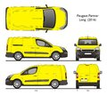 Peugeot partner Long 2016 Cargo Professional Van Royalty Free Stock Photo