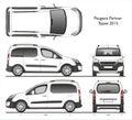 Peugeot partner Tepee 2015 commercial van