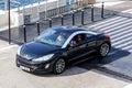 Peugeot rcz la condamine monaco august motor car at the city street Royalty Free Stock Images
