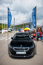 Peugeot vilnius may on may in vilnius lithuania the is a small family car produced by the french car manufacturer Royalty Free Stock Photo