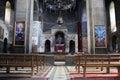 Pew in armenian church Royalty Free Stock Photos