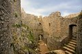Peyrepertuse cathar castle in france Stock Photography