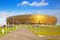 Pge arena stadium in gdansk poland for spectators on october is the largest polish league ekstraklasa and the third Stock Image