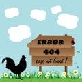 Página do erro não encontrada Imagens de Stock Royalty Free