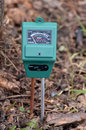 PH-meter in the garden. Royalty Free Stock Photo