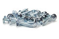 PH tyApe chrome screws on a white background Royalty Free Stock Photo