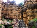Pha chor grand canyon of chiangmai thailand naga angel in front buddha image Stock Photography
