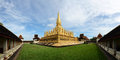 Pha that luang golden pagoda in vientiane laos is a gold covered large buddhist stupa the centre of since its initial Royalty Free Stock Image
