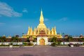 Pha that luang great stupa in vientine laos is a gold covered large buddhist the centre of vientiane it is generally regarded as Royalty Free Stock Photography