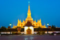Pha that luang great stupa in vientine laos is a gold covered large buddhist the centre of vientiane it is generally regarded as Stock Photo