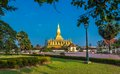 Pha that luang great stupa in vientine laos is a gold covered large buddhist the centre of vientiane it is generally regarded as Stock Photos