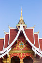 Pha that luang stupa in vientaine loas the most important Royalty Free Stock Image